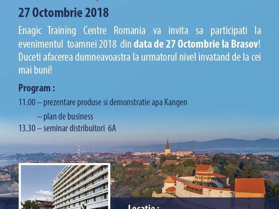 Enagic prezintă un eveniment grandios la Brașov
